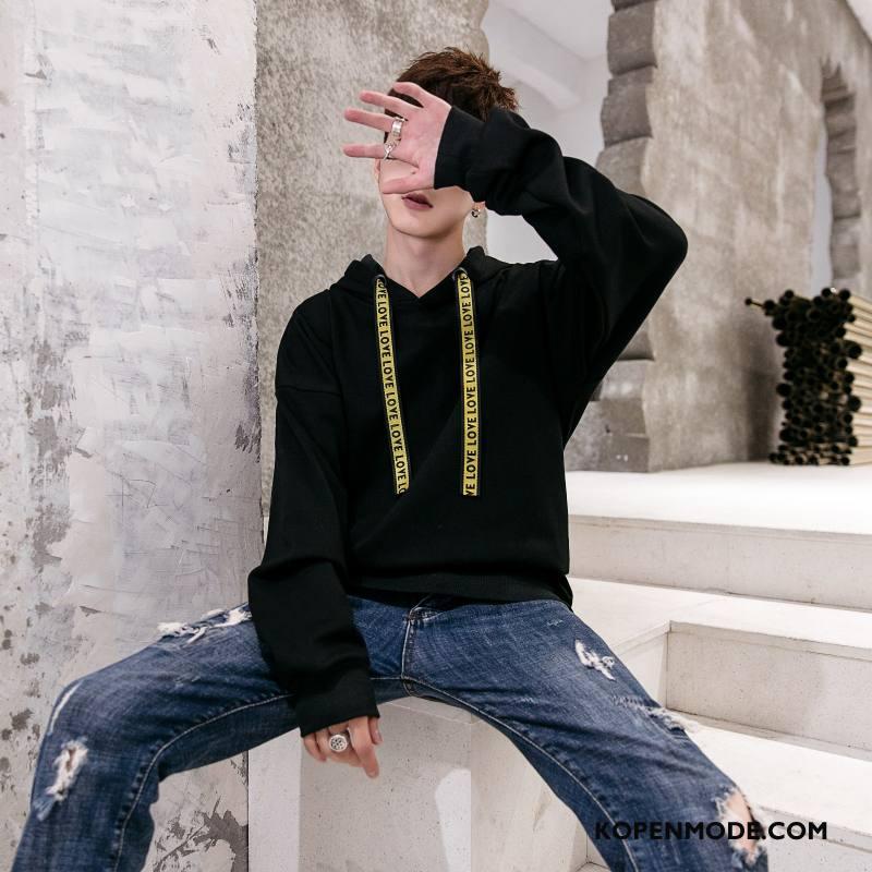 Hoodies Heren Groen Mode Trend Losse Rood