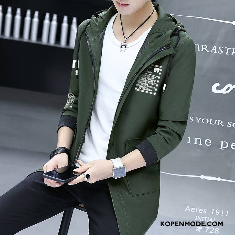 Jassen Heren Jack Trend Populair Mannen Mode Slim Fit Zwart