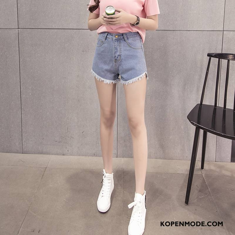 Korte Broek Dames Hoge Taille.Jeans Dames Voorjaar Denim Korte Broek 2018 Hoge Taille Mode Zwart