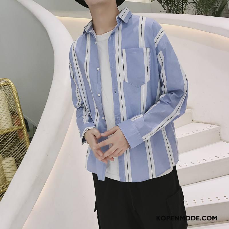 Overhemden Heren Casual Herfst Nieuw Losse Comfortabele Lange Mouwen Geel