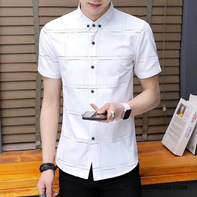 Heren Overhemd Casual.Overhemden Heren Overhemd Kort Mouw Mode Nieuw Trend Zomer Casual