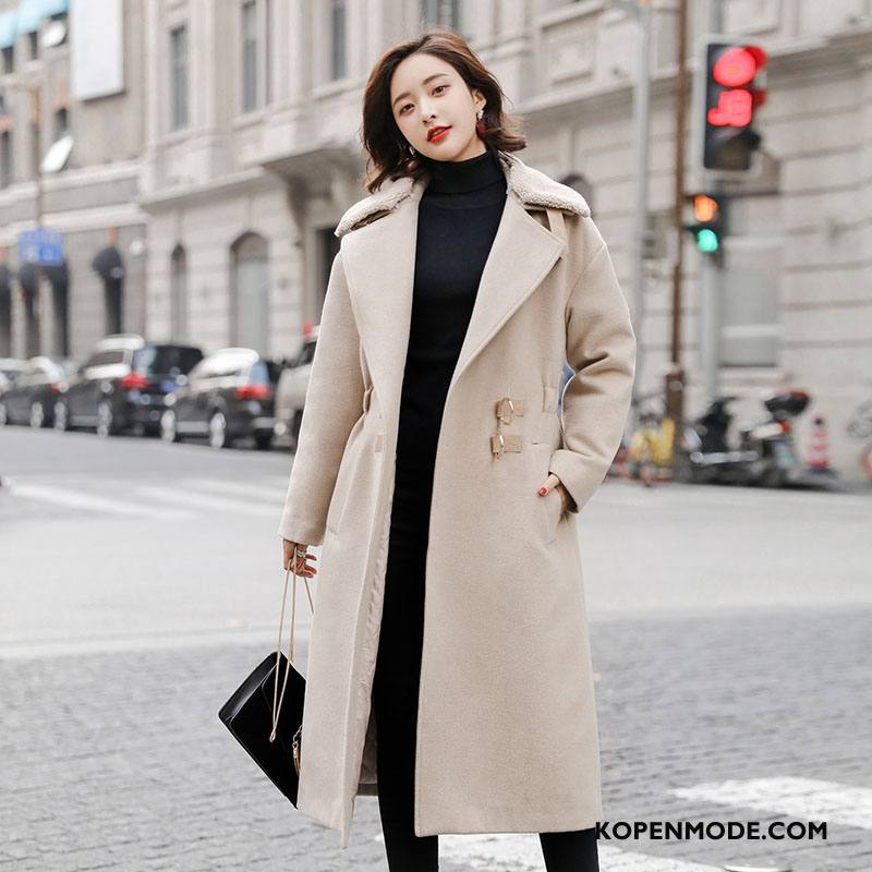Overjas Dames Elegante Zak Slim Fit Lange Mouwen 2018 Mode Effen Kleur Rood