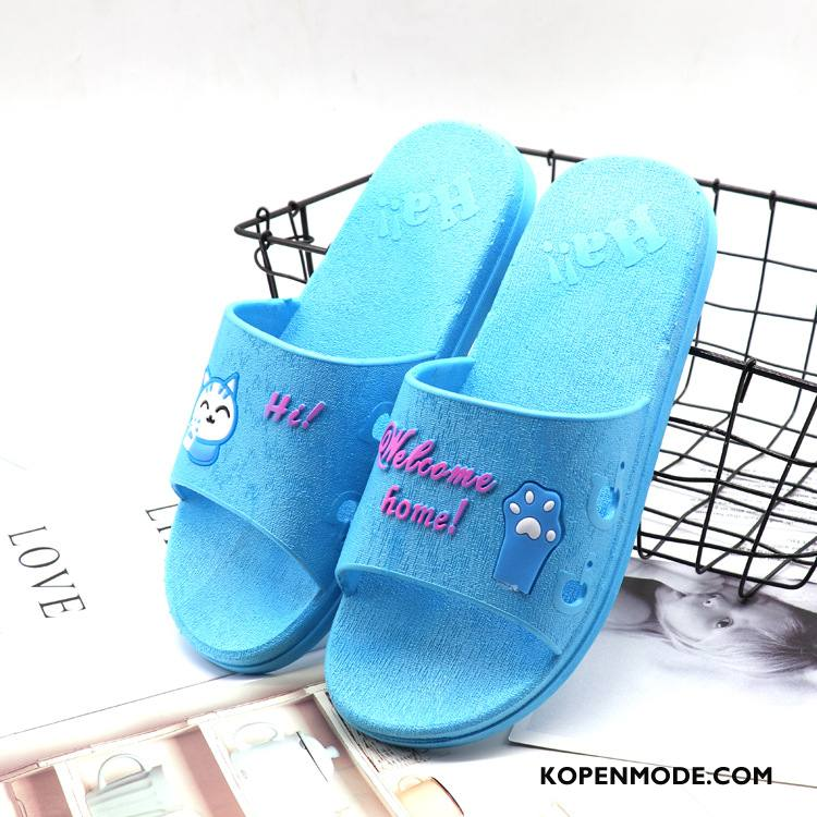 Pantoffels Dames Badkamer Antislip Lovers Binnen Zomer Vrouwen Blauw