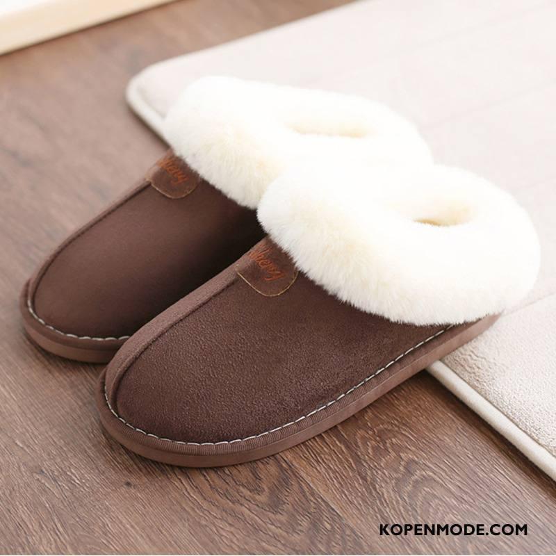 Pantoffels Dames Binnen Lovers Verdikken Winter Plateauzool Antislip Purper