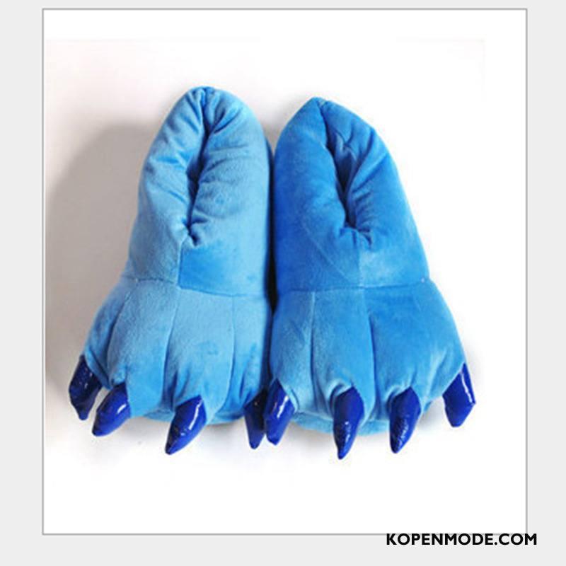 Pantoffels Dames Katoen Schoenen Herfst Vrouwen Winter Voorjaar Blauw