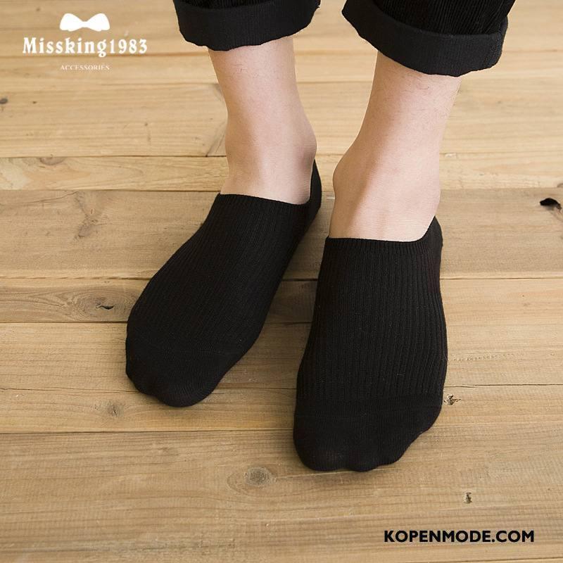Sokken Heren Heimelijkheid Silicone Streep Boot Sokken 100% Katoen Mannen Grijs Licht