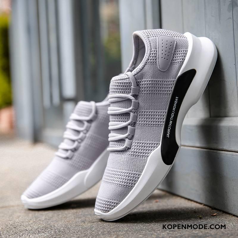 Sportschoenen Heren Casual Loopschoenen Alle Wedstrijden Ademende Trend Voorjaar Wit