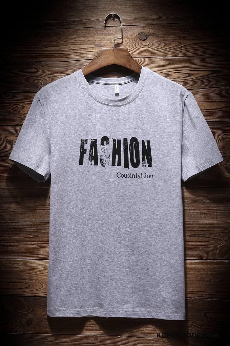 T-shirts Heren Onderhemd Mannen Ronde Hals Nieuw Jasje Voorjaar Donkerblauw