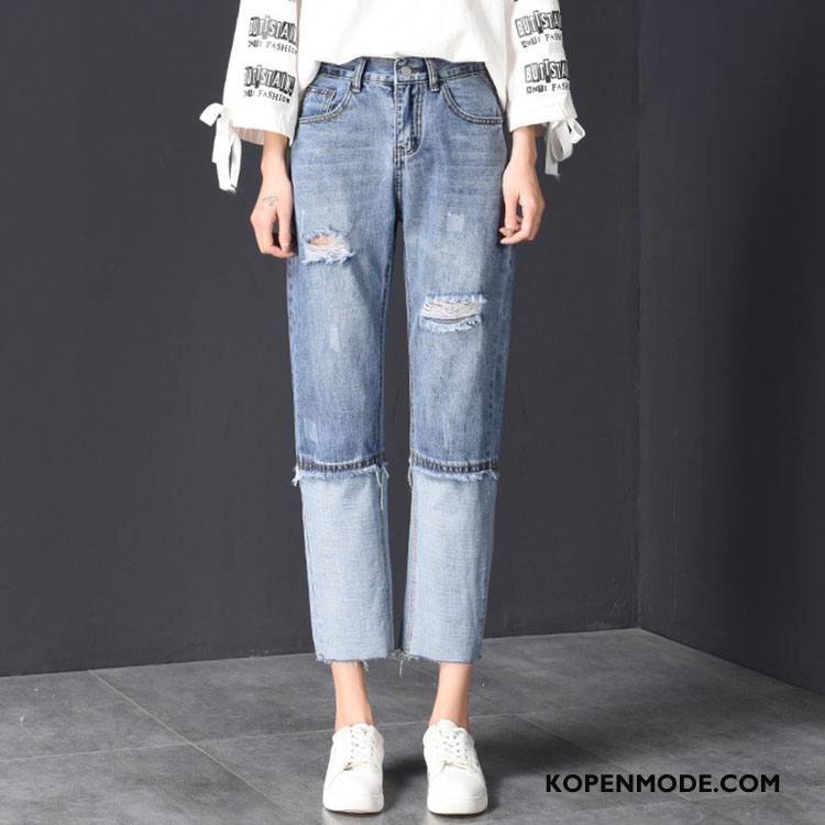 Broeken Dames Elegante 2018 Mode Dunne Jeugd Comfortabele Blauw