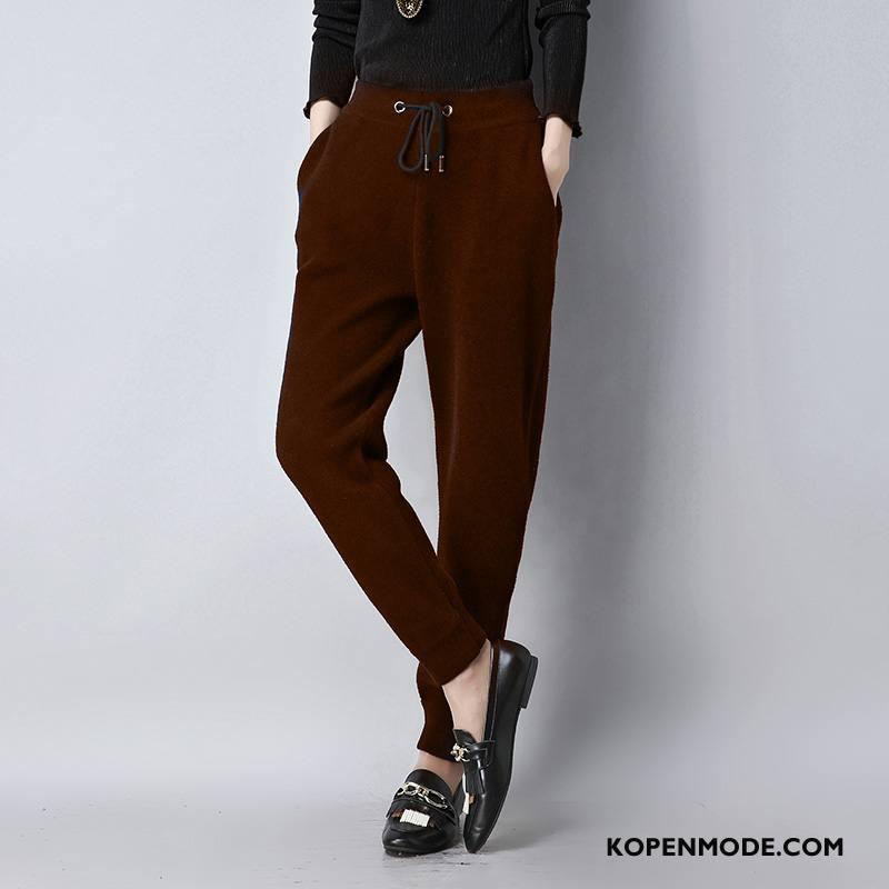 Broeken Dames Elegante Trend Dikke 2018 Winter Casual Karamel Kleur