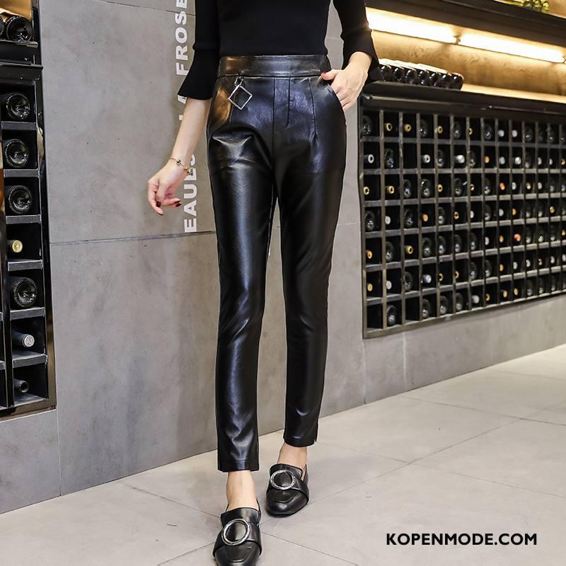 Broeken Dames Elegante Verbinding 2018 Trend Potlood Broek Zak Zwart