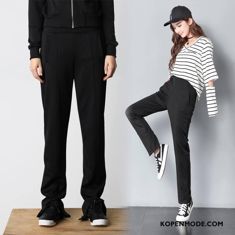 Broeken Dames Herfst 2018 Trend Zoet Eenvoudige Casual Zwart