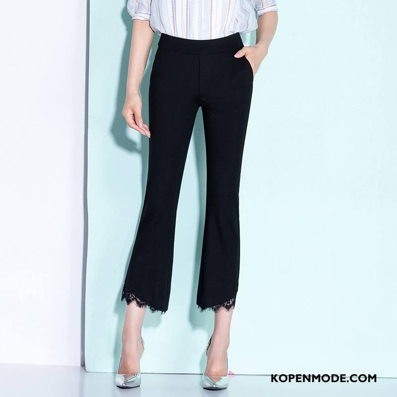 Broeken Dames Losse Casual Mid Taille Mode Voorjaar 2018 Zwart