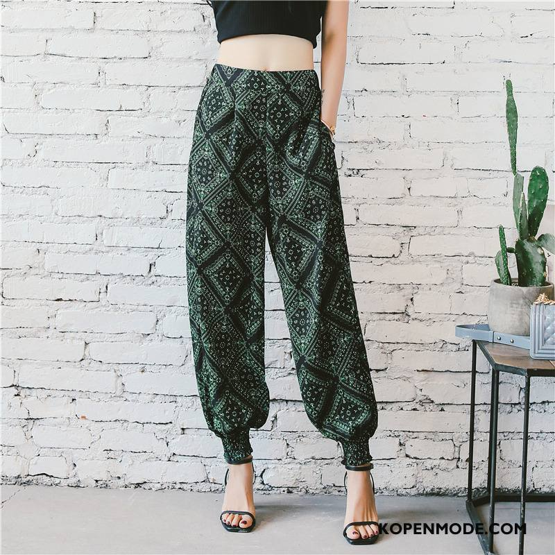 Broeken Dames Mode Zak Casual Trend 2018 Hoge Taille Groen