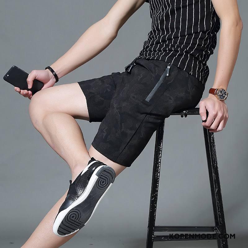 Broeken Heren Korte Broek Casual Mannen Trend Sport Zomer Camouflage Zwart Grijs