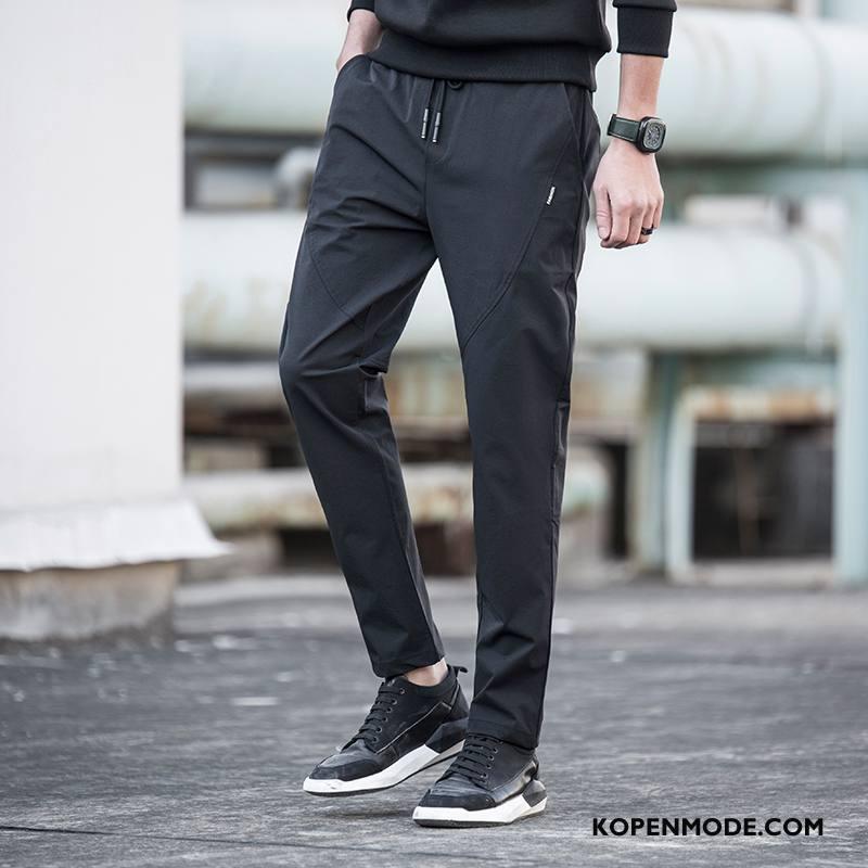 Broeken Heren Trend Lange Super Joggingbroek Rechtdoor Mannen Zwart