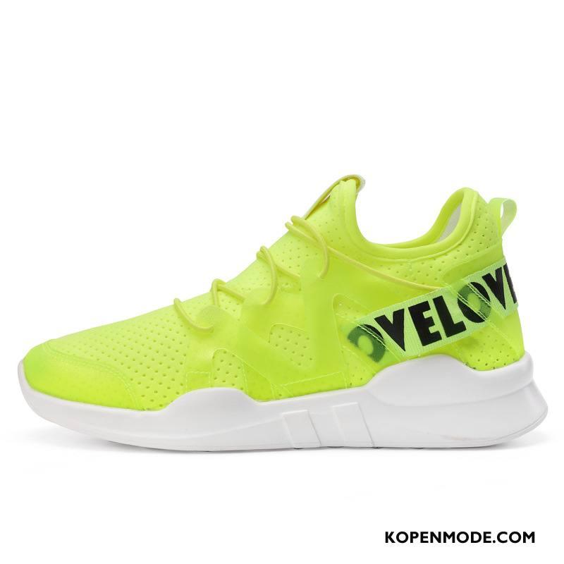 Casual Schoenen Dames Lichte Ademende Comfortabele Vrouwen Sportschoenen Loopschoenen Fluorescentie Groen