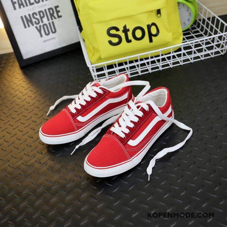 Casual Schoenen Heren Laag Skateboard Schoenen Mannen Vrouwen Klassieke Ademende Gemengde Kleuren Rood Wit Zwart