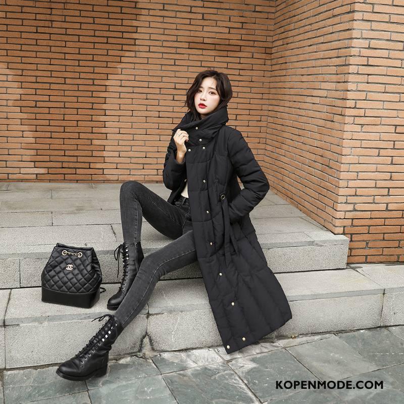 Donsjassen Dames Lang Lichte En Dun Hete Verkoop Mode Nieuw Losse Wit Zwart