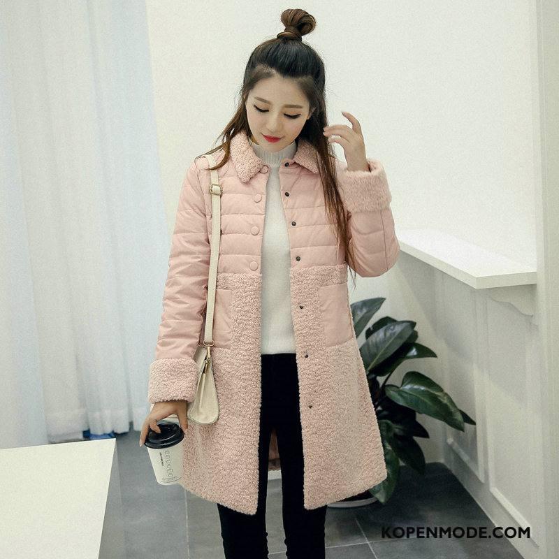 Donsjassen Dames Lang Trend Donsjack Mode 2018 Winter Roze Rood