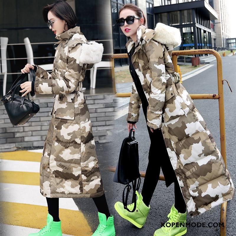 Donsjassen Dames Mooi Zak 2018 Winter Vers Eenvoudige Camouflage