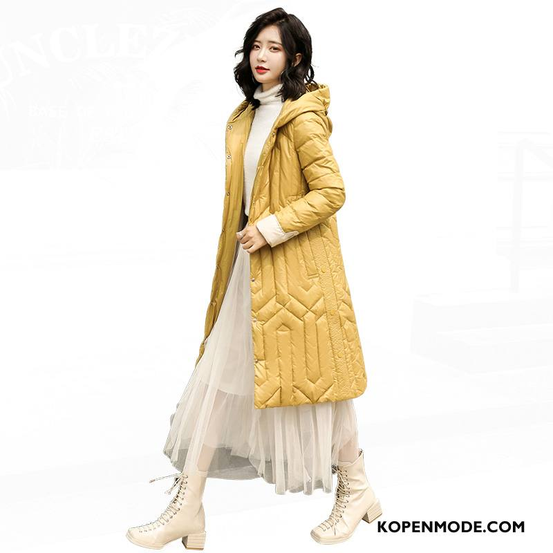 Donsjassen Dames Persoonlijk Losse Elegante Mode Winter Trend Geel