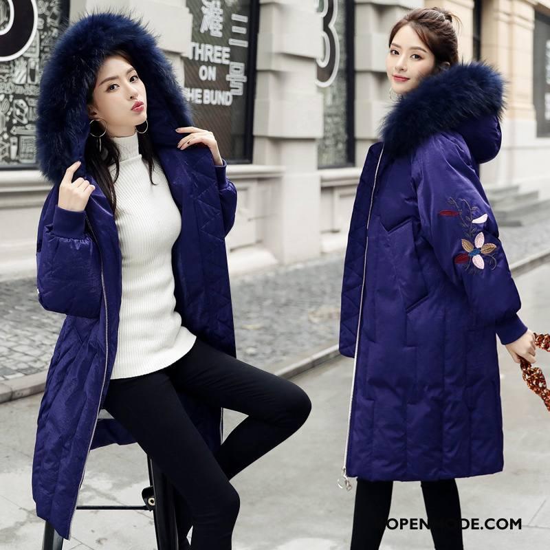 Donsjassen Dames Winter Trend Donsjack Elegante Losse 2018 Marineblauw