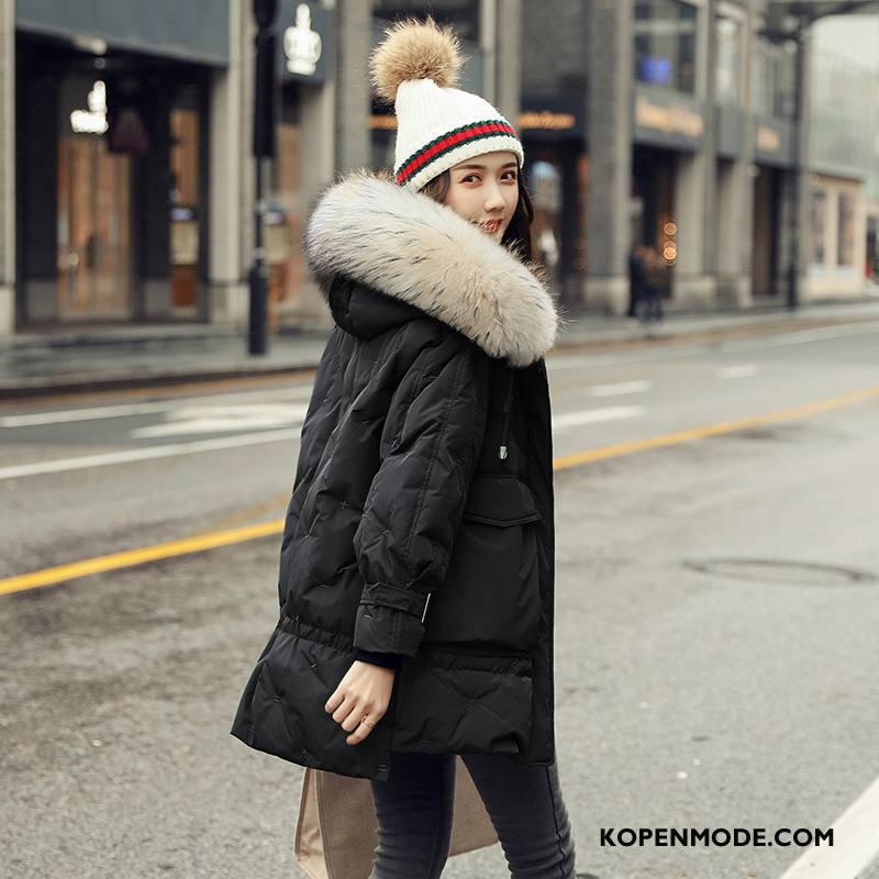 Donsjassen Dames Winter Vrouwen Groot Donsjack Lang Trend Rood Wit Zwart