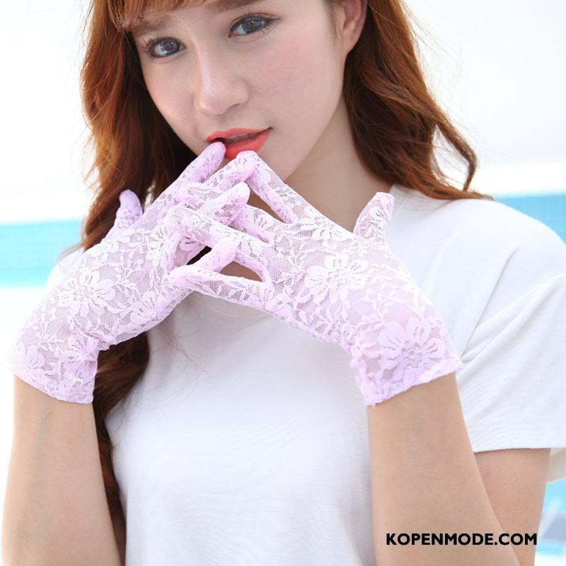 Handschoenen Dames Dun Voorjaar Sport Zomer Sexy Zonnebrandcrème Roze