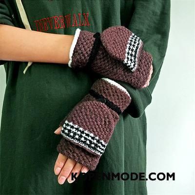 Handschoenen Dames Winter Mannen Student Blijf Warm Mode Vrouwen Bruine