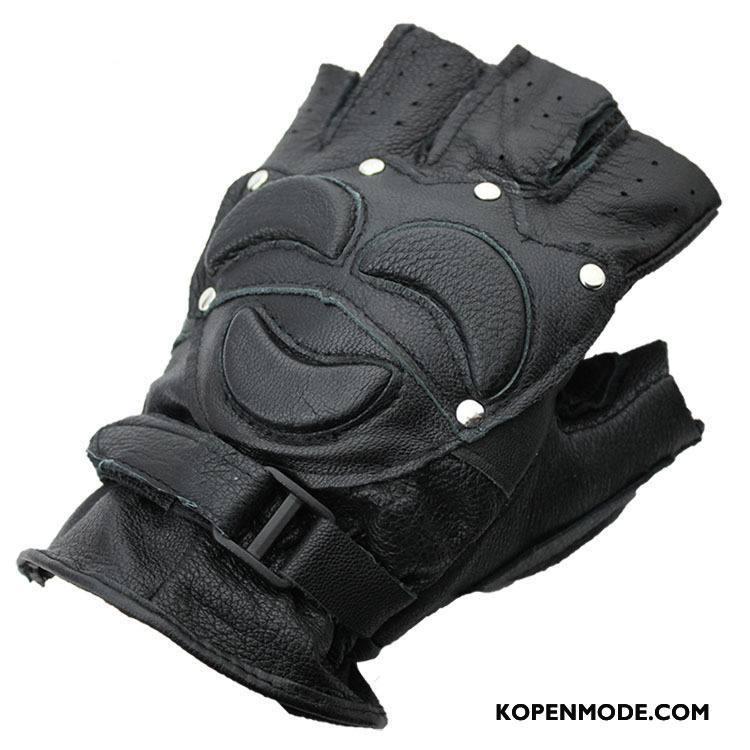 Handschoenen Heren Bescherming Sport Mannen Zeemleer Zwart