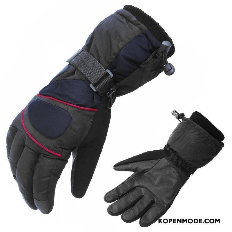 Handschoenen Heren Blijf Warm Fluweel Lovers Paardrijden Verdikken Vrouwen Zwart