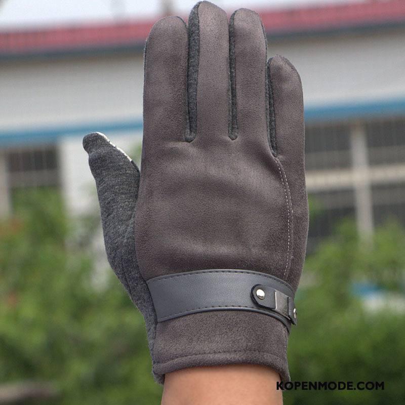 Handschoenen Heren Blijf Warm Mannen Kasjmier Touchscreen Business Winddicht