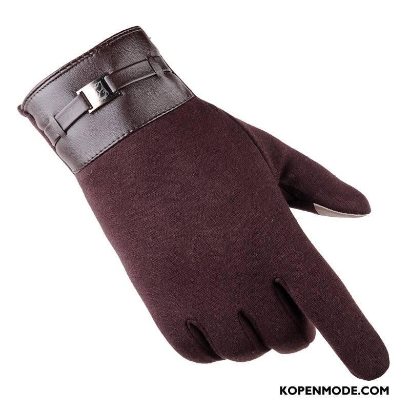 Handschoenen Heren Herfst Dun Cyclus Paardrijden Touchscreen Fluweel