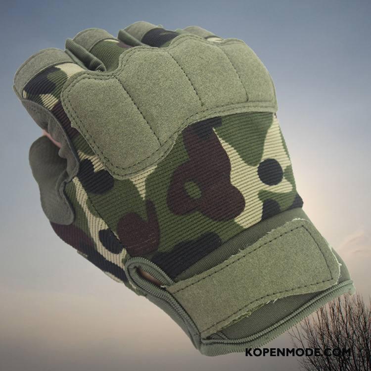 Handschoenen Heren Mannen Ademend Antislip Halve Vinger Nieuw Paardrijden Camouflage
