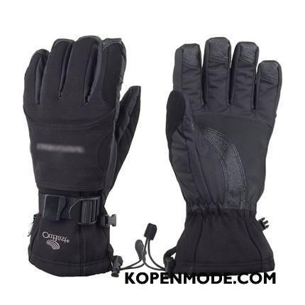 Handschoenen Heren Motorfiets Waterdicht Mannen Blijf Warm Vrouwen Van Katoen Zwart