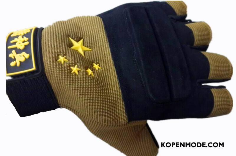 Handschoenen Heren Nieuw Tactiek Outdoor Antislip Mannen Slijtvast Zwart Bruine