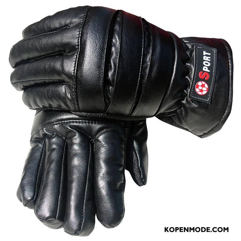 Handschoenen Heren Nieuw Touchscreen Winter Blijf Warm Mannen Leer Zwart