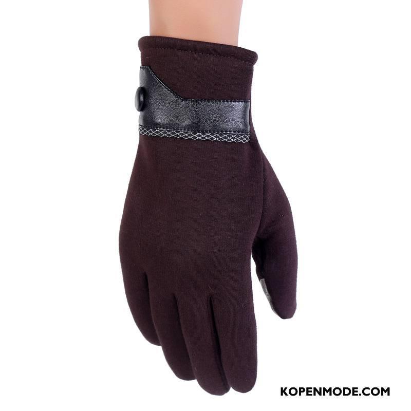 Handschoenen Heren Outdoor Sport Paardrijden Autorijden Blijf Warm Mannen Bruine