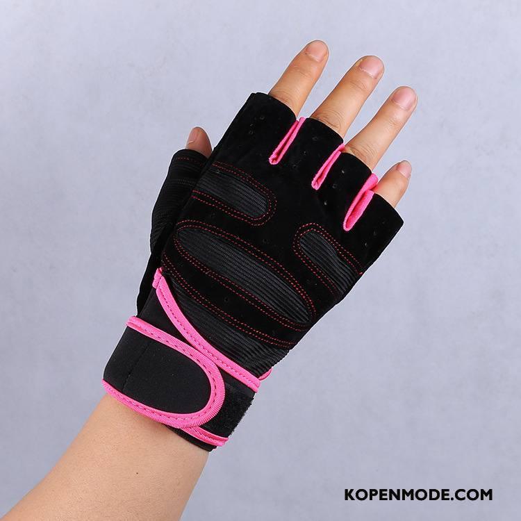 Handschoenen Heren Polsbeschermers Vrouwen Mannen Gym Antislip Sport Roze Rood