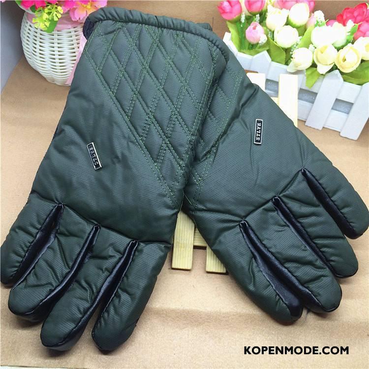 Handschoenen Heren Verdikken Outdoor Blijf Warm Mannen Winter Herfst Groen