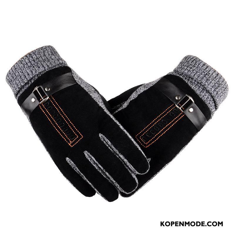 Handschoenen Heren Verdikken Winter Antislip Waterdicht Mannen Motorfiets Zwart