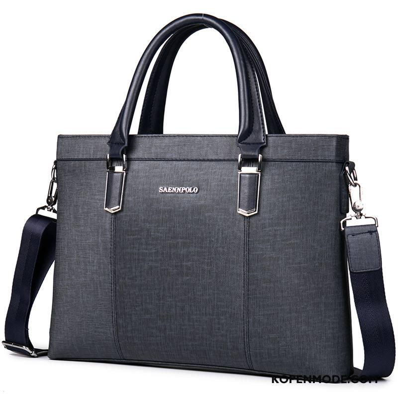Handtas Heren Business Mannen Hoge Kwaliteit Trend Mode Nieuw Zwart