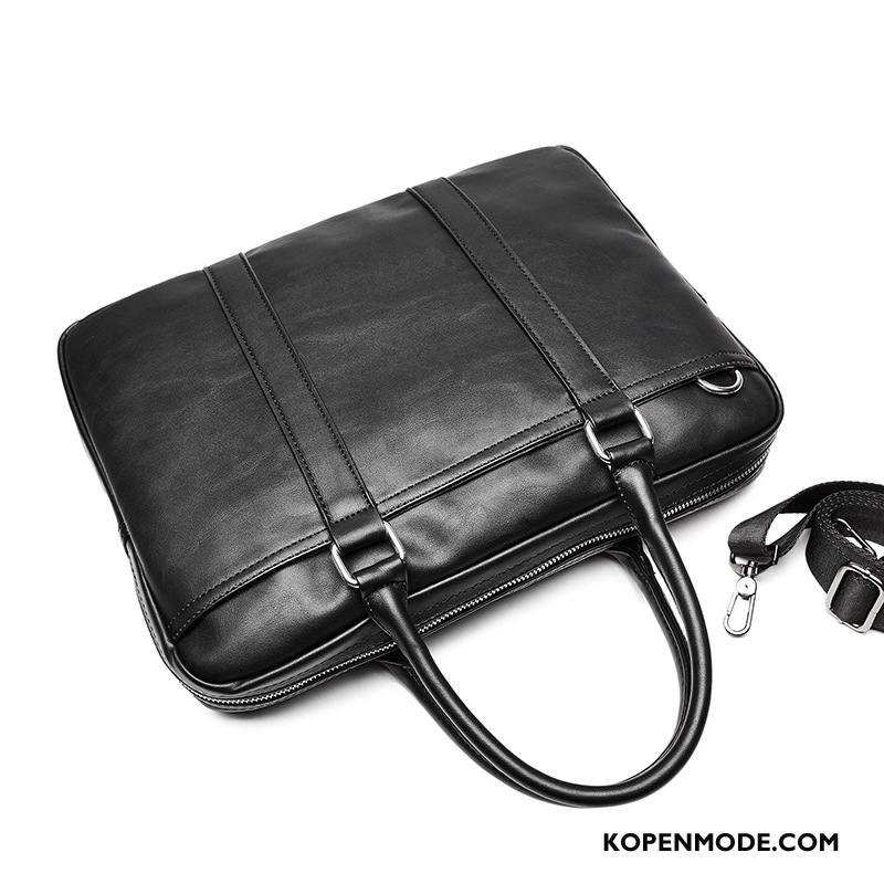 Handtas Heren Mode Trend Jeugd Nieuw Business Kwaliteit Zwart
