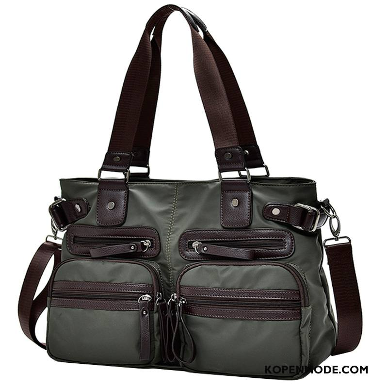 Handtas Heren Reizen Casual Messenger Tas Mannen Business Nylon Groen
