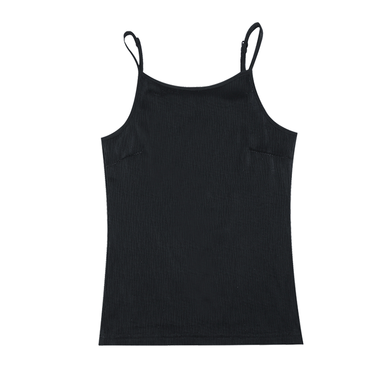 Hemdje Dames Mode Bovenkleding Jasje Sexy Vrouwen Zijde Zwart