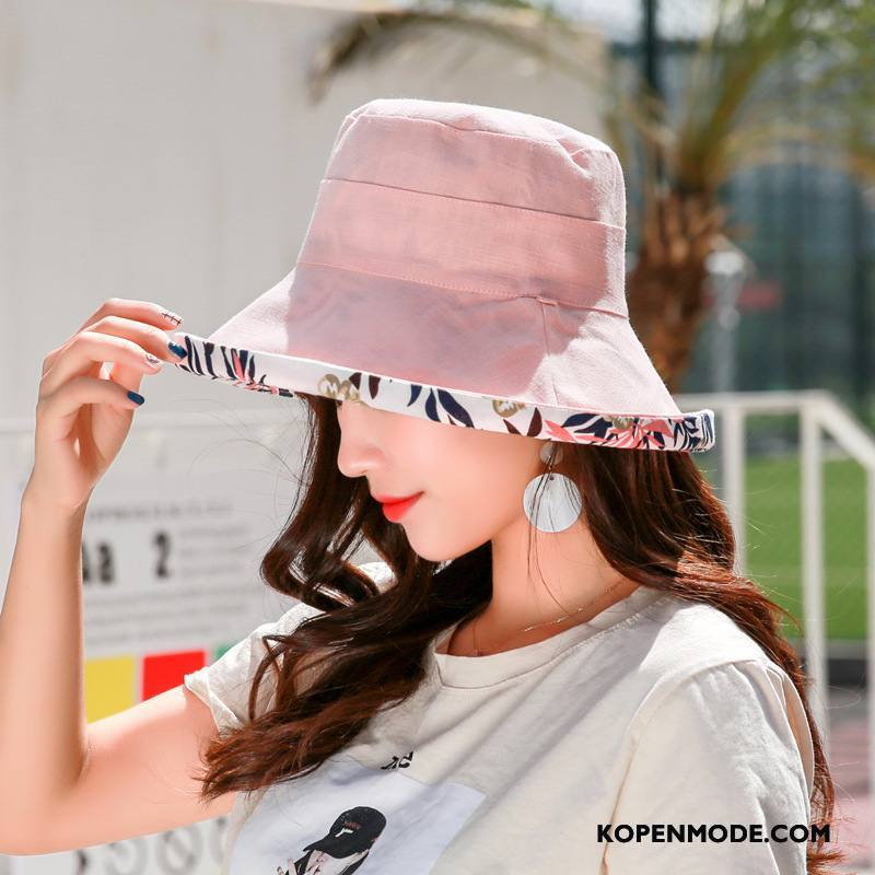 Hoeden Dames Reizend Doek Dual Gebruik Casual Nieuw Vrouwen Purper Roze