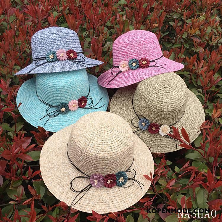 Hoeden Dames Vrouwen Mode Bloemen Reis Zonnehoeden Nieuw Blauw Zandkleur