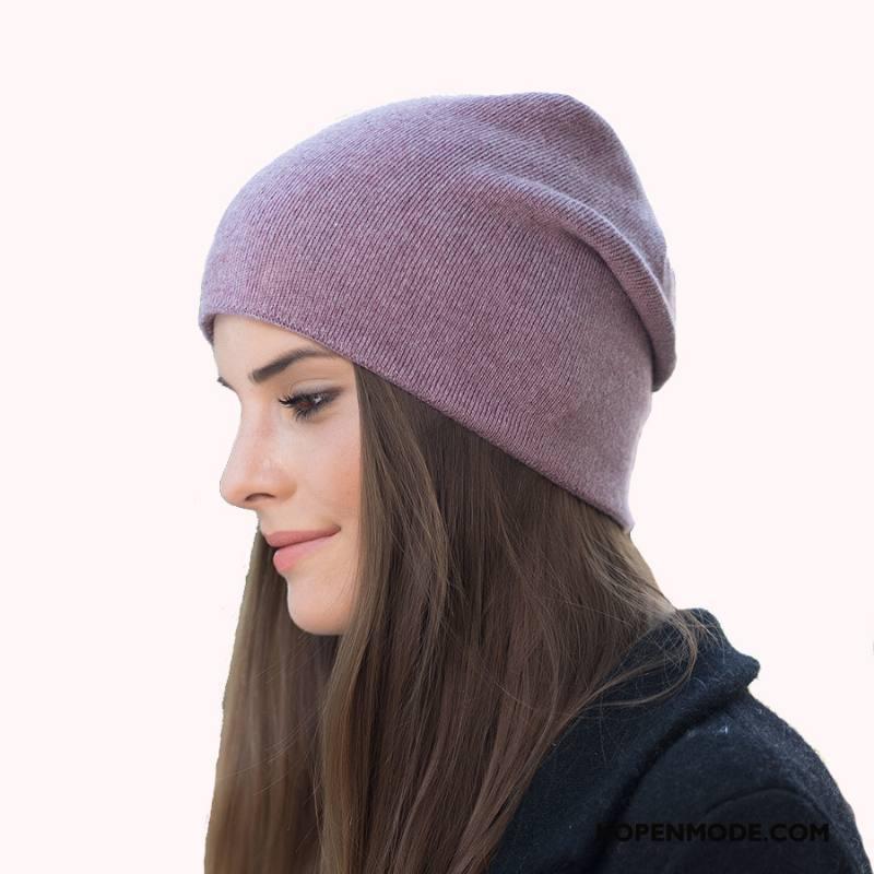 Hoeden Dames Vrouwen Pullover Winter Wol Wollen Blijf Warm Purper