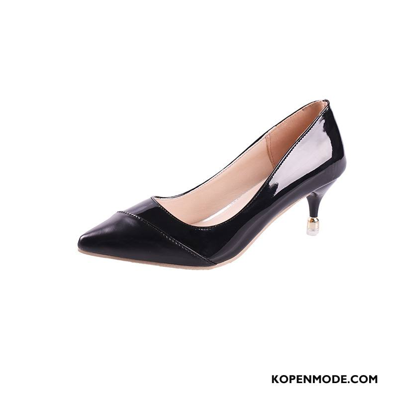Hoge Hakken Dames Dunne Trend Punt Mode Vrouwen Pumps Zwart Licht